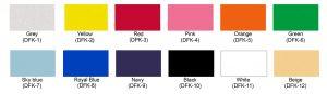 Colores vinil textil flock
