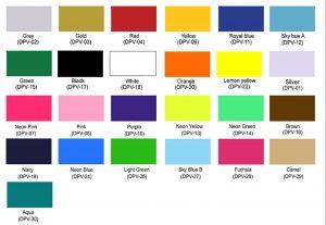 Colores vinil textil pvc