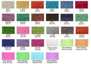 Colores vinil textil glitter