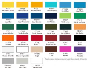 Colores lona toldo