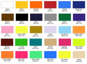 Colores vinil textil